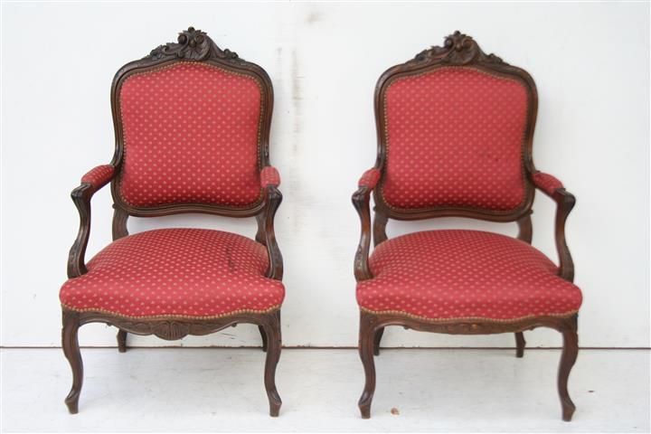 El kin bellisimo par de sillones estilo frances luis xv - Sillones estilo frances ...